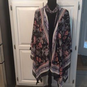 Express open cardigan wrap scarf
